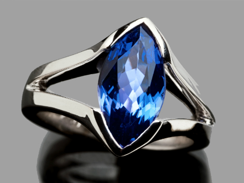 AAA Tanzanite ring for woman buy online south africa